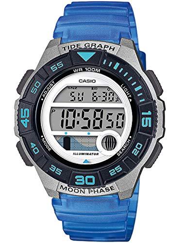 Casio Reloj Digital para Mujer de Cuarzo con Correa en Resina LWS-1100H-2AVEF