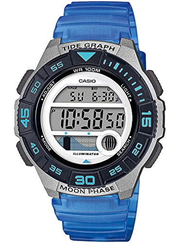 CASIO Damen Digital Quarz Uhr mit Resin Armband LWS-1100H-2AVEF
