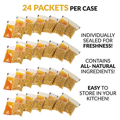Product Image 2: Nostalgia KPP424 Best Tasting Premium 4-Ounce Popcorn, Oil & Seasoning Salt All-In-One Packs – 24 Count