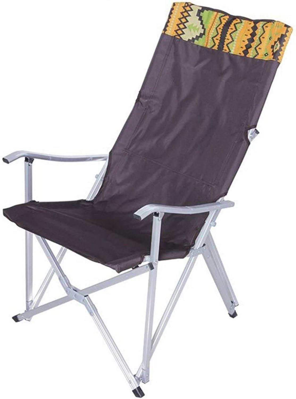 Limeinimukete Outdoor Bequeme Faltbare Camping Stuhl für Camping, Angeln (Farbe   Braun)