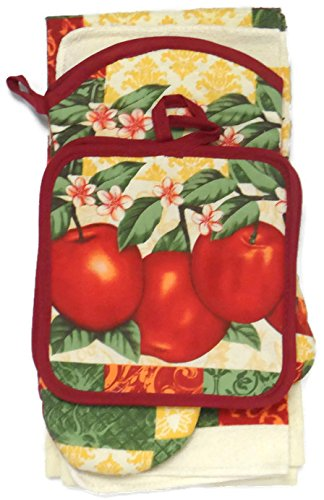 Garden Apple Kitchen Towel Set