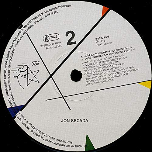 Jon Secada - Just Another Day - SBK Records - 8 80023 6