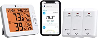 Ambient Weather WS-8482-X3 Wireless 7-Channel Internet Remote Monitoring Weather Station with Three Indoor/Outdoor Temperature & Humidity Sensors, Compatible with Alexa
