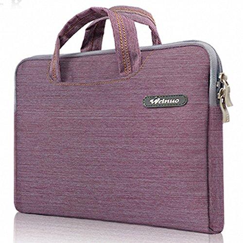 Denim Fabric Notebook Ultrabook Chromebook Laptop Sleeve Case Bag For 11.6' MacBook Pro Air HP COMPAQ Acer Aspire ASUS DELL LENOVO ThankPad TOSHIBA Satellite MSI (Purple)