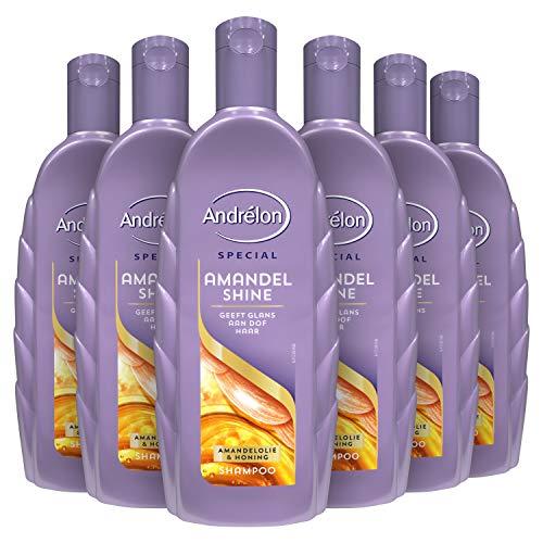 Andrélon Special Shampoo Voordeelverpakking Amandel Shine 6 x 300 ml