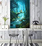 3D My Neighbor Totoro Japanese Anime Benutzerdefinierte Größe Fototapete Wandbild Wallpaper Mural Wand Tapete Jungen Mädchen Kinder Schlafzimmer Wandkunst Raumdekor 400cmx280cm