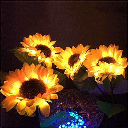 N/V Outdoor Sunflower Solar Lamps, LED Lawn for Garden Powerful Night Light, for Terrace, 26'' Decorative Lights for Courtyard Decoration Outdoor Yard Stake Garden Decoration (2 Pack)
