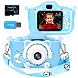 Langwolf Kids Camera for Girls, Digital Camera for Kids Toys Children Selfie Photo Video Camera with 32GB SD Card, Gifts for Girls Age 3 4 5 6 7 8 9 10 11 12 13 Years Old