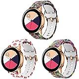 Supore Correa Galaxy Watch Active 40mm, Correas de Silicona de 20 mm con Liberación Rápida para Active 2 / Gear S2 Classic/Gear...