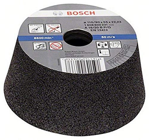 Bosch 1 608 600 231 - Vaso de amolar cónico (metal/hierro fundido, 90 mm, 110 mm, 55 mm, 16)