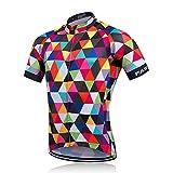 Maillot Ciclismo Hombre, Maillot Montaña Hombre, Camiseta de Bicicleta Chaqueta de Malla de Manga Corta, Transpirable, Secado rápido, Top de Bicicleta de Ciclo