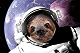 Faultier Sloth - In Space - Fun Spaß Tier Poster Plakat
