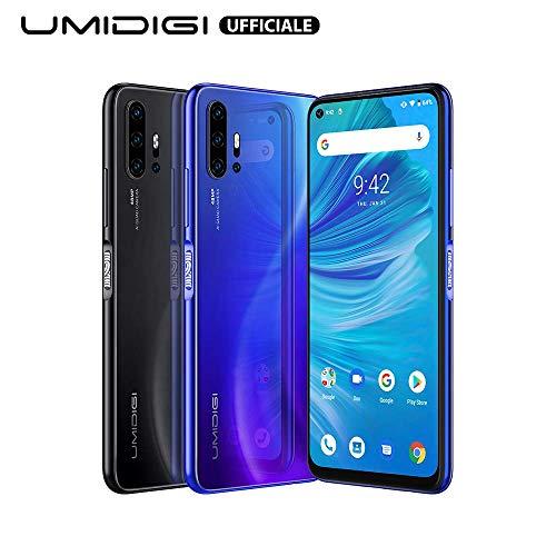 UMIDIGI F2 Android 10 Smartphone ohne vertrag 6.53 Zoll FHD+ FullView Display Handy mit 6GB+128GB, 5150mAh großer Akku, 48 MP Quad-Kamera, NFC, Google Assistant, Seitlicher Fingerabdrucksensor, Blau