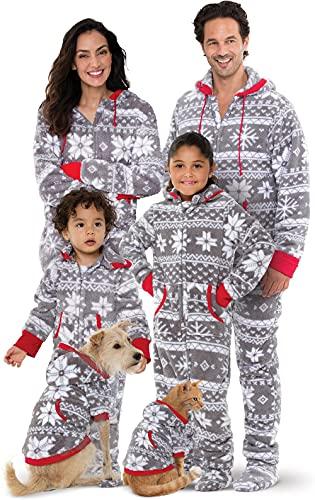 Pajamagram Family Pajamas Matching Sets - Christmas Onesie, Gray, 14