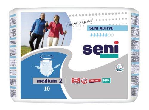 SENI Active Inkontinenzslips Schutzhosen für Erwachsene Gr. M - Taillenumfang (80-110 CM)