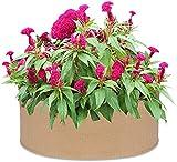 SDKFJ Bolsas de Cultivo 2 uds, Bolsa Redonda para Cultivo de jardín, Tela, Cama de plantación elevada, Maceta Redonda, Bolsa para Cama de jardín para Hierbas, Flores, Plantas Vegetales