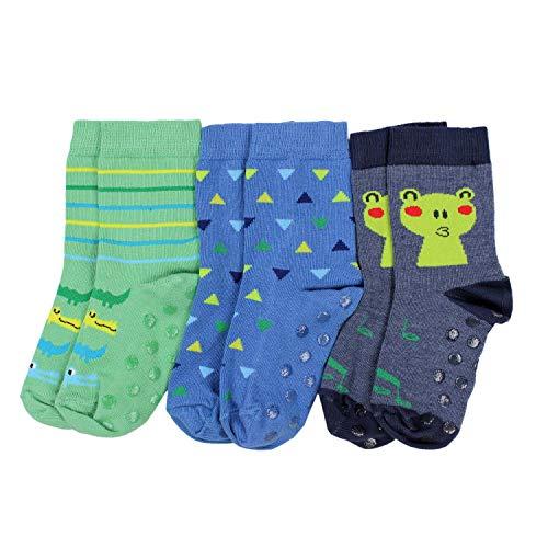 TupTam Baby Jungen Socken mit ABS Noppen 3er Pack, Farbe: Farbenmix 7, Socken Größe: 27-30