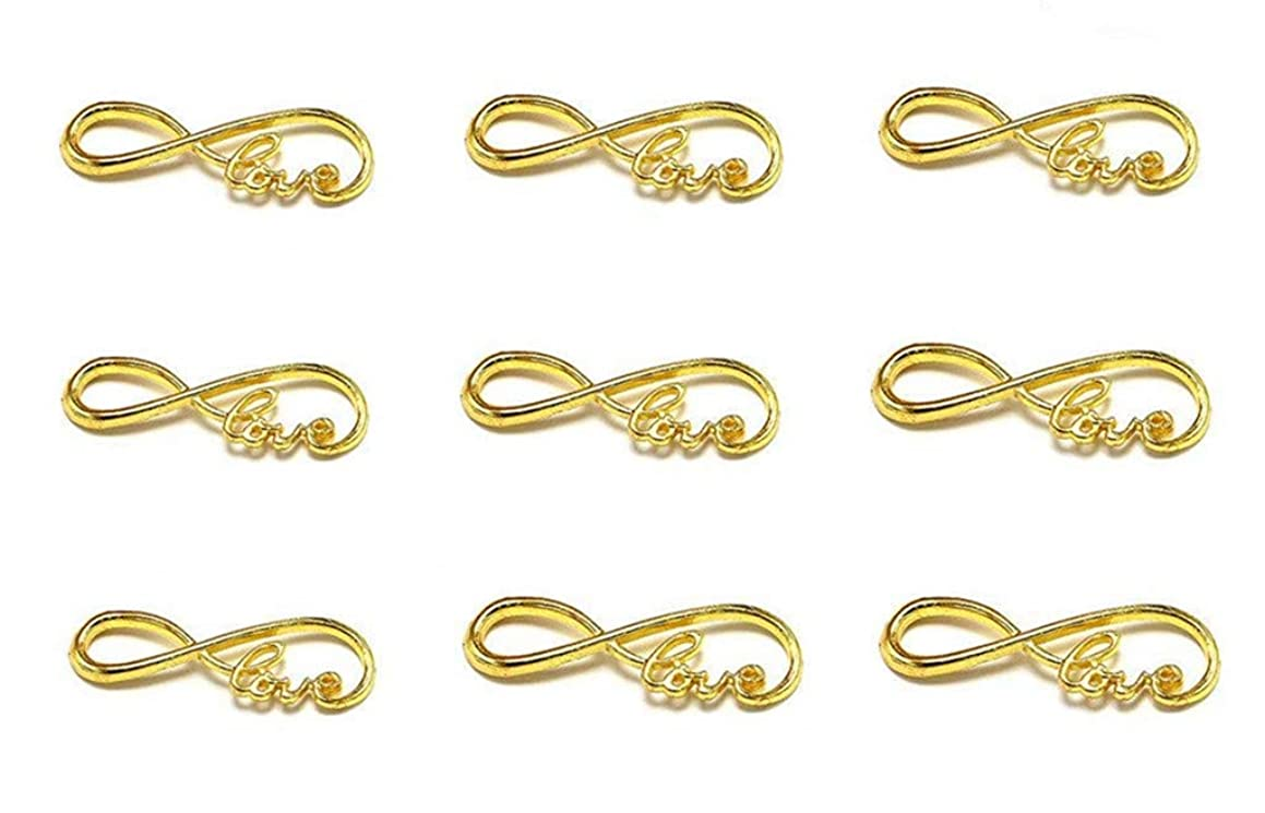 40pcs Infinity Love Symbol Connectors Charms Pendants for DIY Necklace Bracelet Jewelry Making Findings(Gold Tone)