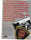 1981 Original Magazine Print Ad #1 ADB Fire Apparatus Crosby Tex FD