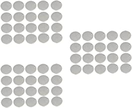 60x Round Blank Stamping Charms Flat Tags Jewelry Making DIY 12mm