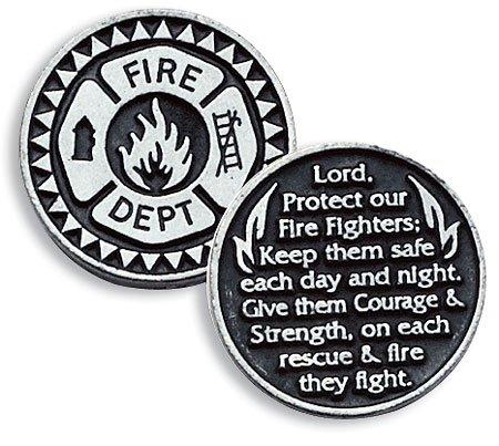 Discover Bargain Firefighter Fire Dept Pewter Pocket Good Luck Love Token Coin