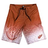 Detroit Red Wings NHL「グラデーション」メンズBoardshorts Swim Trunks S レッド