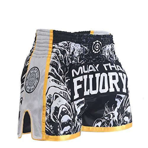 Mikelabo Muay Thai Fight Shorts, MMABoxeo Shorts BoxeoPeto Entrenamiento BoxeoHombre/Mujer MMAEntrenamiento calzónGrappling Martial Combat Shorts Shorts de Entrenamiento Arts Kickboxing