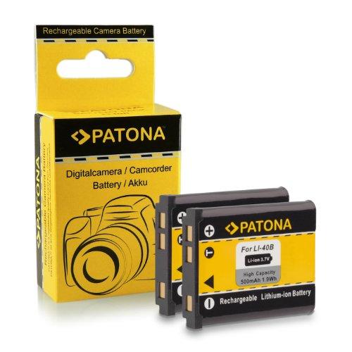PATONA 2x Bateria compatible con Olympus Li-40B / Li-42B   Nikon EN-EL10   Fuji NP-45   Pentax D-Li63   Kodak Klic-7006   Casio NP-80