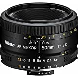 Nikon 2137 50mm f/1.8D Auto Focus Nikkor Lens for Nikon Digital SLR Cameras (Renewed)