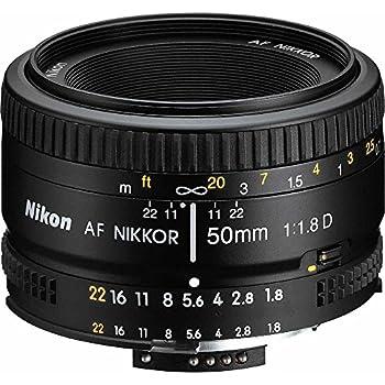 Nikon 2137 50mm f/1.8D Auto Focus Nikkor Lens for Nikon Digital SLR Cameras  Renewed