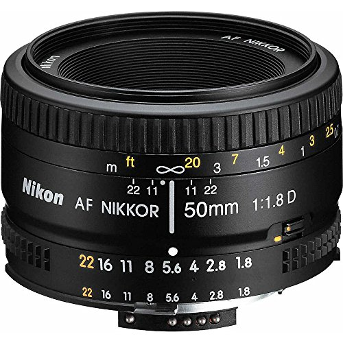 Nikon 2137 50mm f/1.8D Auto Focus Nikkor Lens for Nikon Digital SLR Cameras...