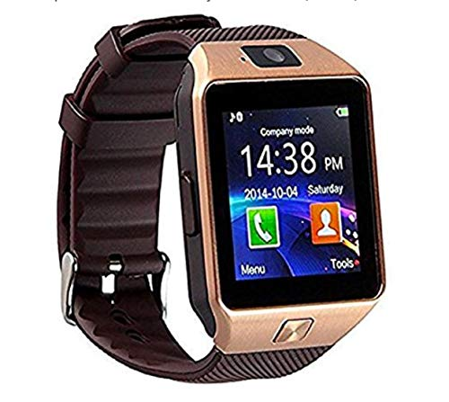 New Bluetooth Mobile DZ09 Smart Watch with pedometer HD display touch screen, sleep monitor, (golden)