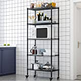 LENTIA Küchenregal stabil Lagerregal Standregal 5 Regalböden Metallregal Regal für küche...