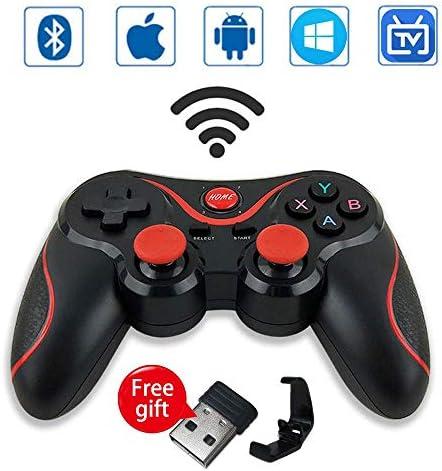 Leton-IT Mando Inalámbrico para Juegos Compatibles con Android/iOS, 2.4GHz Bluetooth Gamepad para PC / PS3 / iPhone/iPad/TV, Controlador de Juego móvil PUBG Mobile Game Controller Joystick: Amazon.es: Electrónica