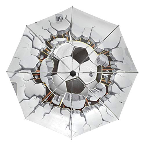 XiangHeFu Umbrella Wall Destruction Soccer Shot 3 vouwen Sich Light Anti-UV