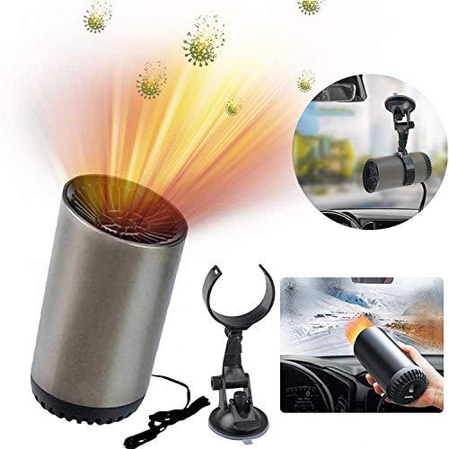 Xpycnb Auto Heizlüfter, 12V Auto Heizung und Kühlventilator, Car Heater, Auto Defroster Demister, 2-in-1 Tragbar Windschutzscheiben Defroster Demister