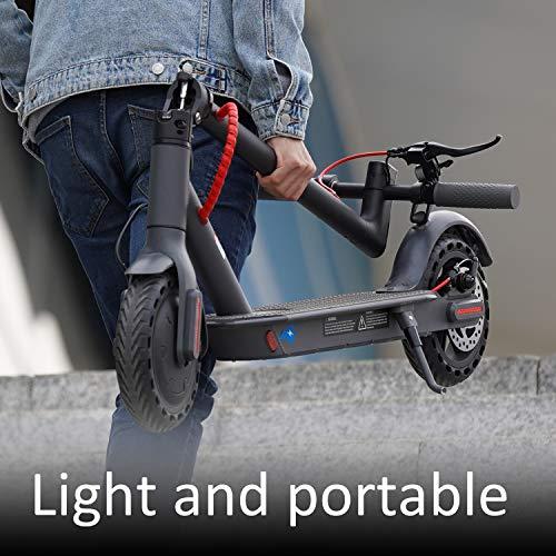 GeekMe Elektroroller abziehbarer Sitz 8,5 Zoll Reifen City Scooter Bis zu 25 km / h   Faltbar Elektroscooter mit LCD-Anzeige  7, 5A Lithium Akku   Maximale Belastung 120 kg Für Erwachsene - 3