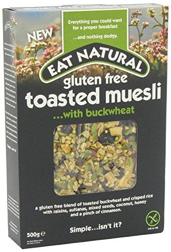 Essen Sie natürliche Gluten Free Geröstete Buchweizen Müsli (500g) - Packung mit 2