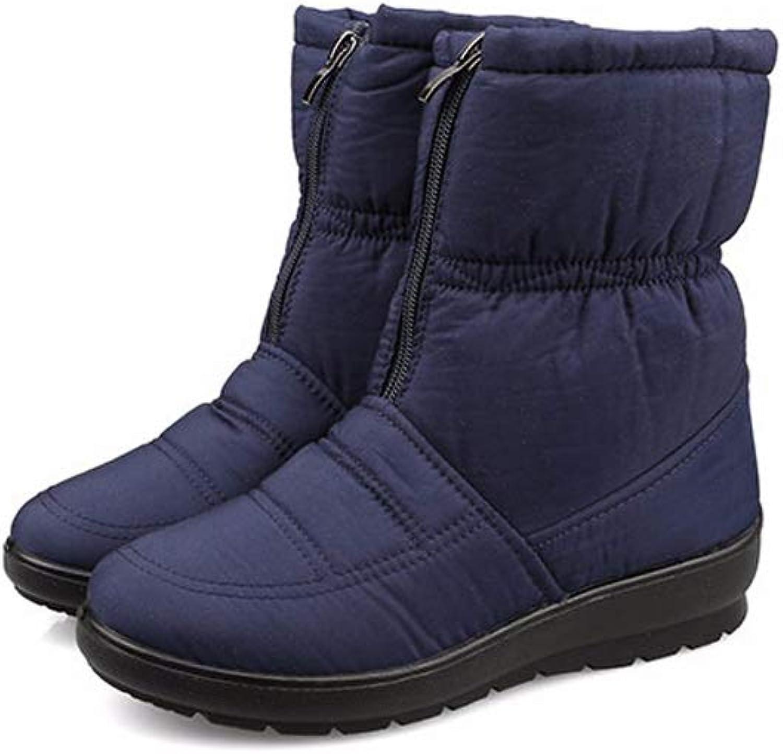 A-LING Women's Waterproof Boots Cotton Winter Boot Fur Boot