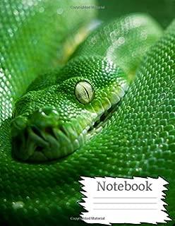 Notebook: Green Tree Boa
