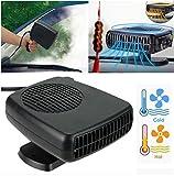150 W 2 en 1 Chauffage/Climatiseur de voiture, appareil de contrôle de température, Noir (12V)