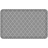 "NewLife by GelPro Anti-Fatigue Designer Comfort Kitchen Floor Mat, 20x32"", Trellis Grey Resistant Surface with 3/4"" Thick Ergo-foam Core for Health and Wellness"
