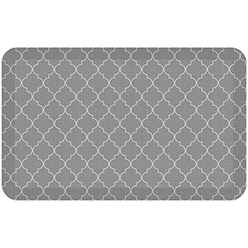 "NewLife by GelPro Anti-Fatigue Designer Comfort Kitchen Floor Mat, 20x32"", Tweed Grey Goose Stain Resistant Surface with 3/4"" Thick Ergo-foam Core for Health and Wellness"