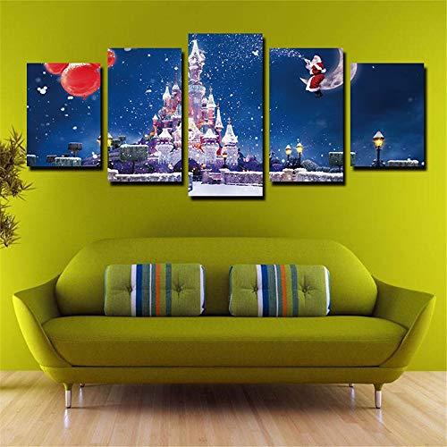 T-TWLH Wulian Christmas Dream Castle Peinture à l'Huile à Base de Peinture décorative à l'Encre, L