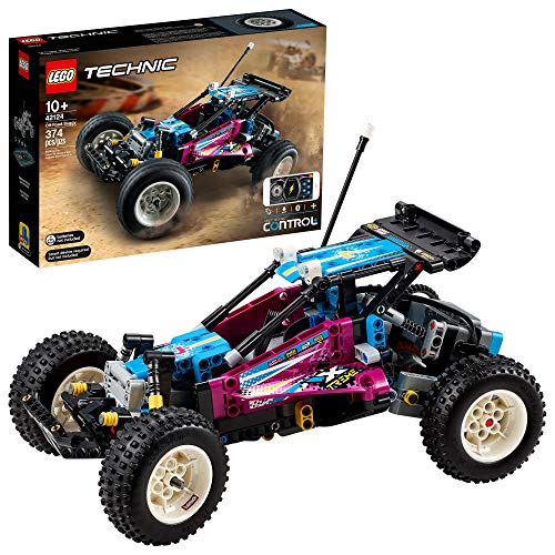 LEGO Technic Off-Road Buggy 42124 Model Building Kit; App-Controlled Retro RC Buggy Toy for Kids, New 2021 (374 Pieces)