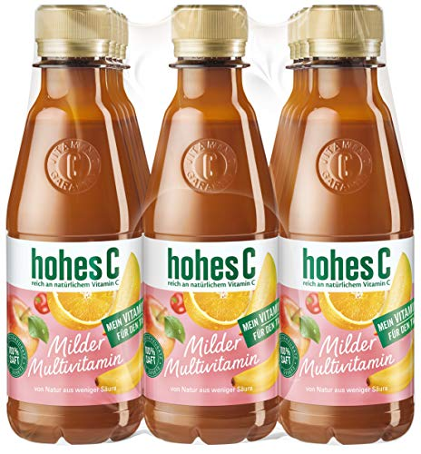 hohes C Milder Multivitamin - 100% Saft, 12er Pack (12 x 250 ml)