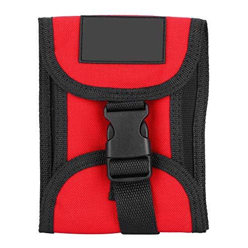Tauchen Gewicht Tasche Beutel, 3KG Scuba Tauchen Bleigürtel wasserdichte Gewichtstasche Taschen Tauchgürtel Gewicht Gürtel Tasche mit Schnellverschluss(Rot)
