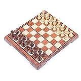 JHSHENGSHI Juego de ajedrez Juegos de ajedrez para Entretenimiento de Entrenamiento de Competencia con Piezas de ajedrez de Bolsa