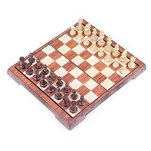 MAZ Schach Set Großes Schachbrett Schach-Sets Mit Aufbewahrungsbeutel-Schachfiguren Für Wettbewerb Training Unterhaltung 31X36X3Cm Für Kinder/Kinder,Holz,31X36X3.