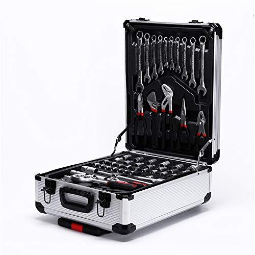 ZXGQF 187 pcs/Sets of Tool Set Case Mechanics Kit para el hogar Set con aluminio Storage Trolley Mechanic Box Case, para herramientas de reparación
